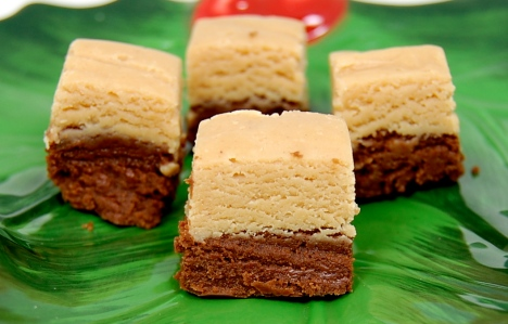 Two Toned Chocolate Peanut Butter Fudge