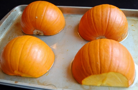 Pie Pumpkins Ready for Roasting
